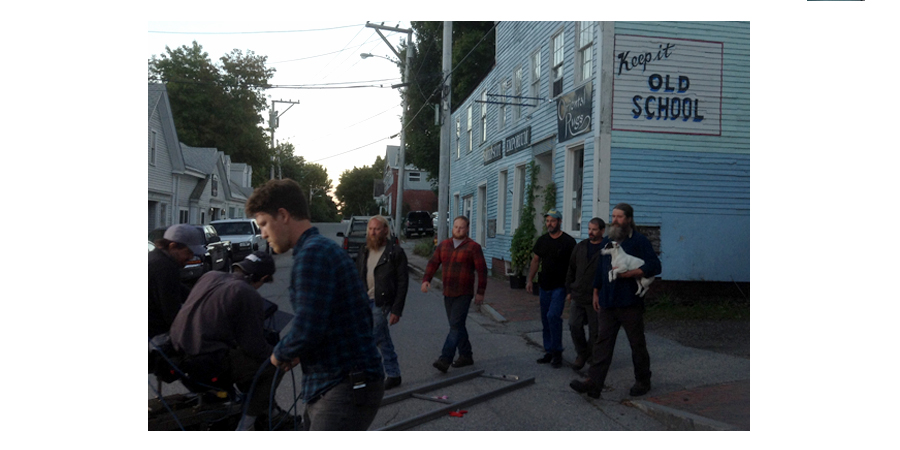 Painted / Distressed Lettering for Television Commercial, The History Channel, Rte. 1, Maine