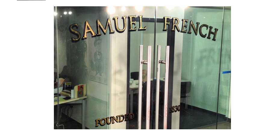 23k Mirrored Gold Leaf Lettering, Samuel French Publishers, NYC
